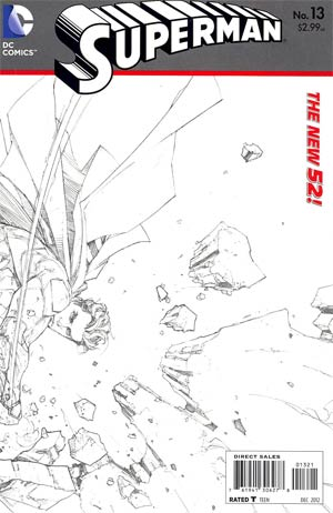 Superman Vol 4 #13 Incentive Kenneth Rocafort Sketch Cover (Hel On Earth Prelude)
