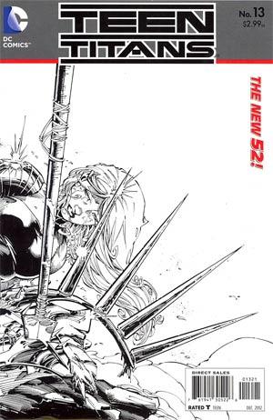 Teen Titans Vol 4 #13 Incentive Brett Booth Sketch Cover