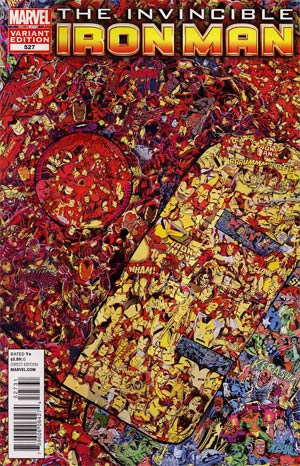 Invincible Iron Man #527 Incentive Collage Variant Cover