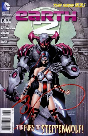 Earth 2 #8 Regular Yildiray Cinar Cover