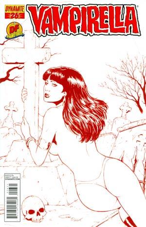 Vampirella Vol 4 #26 DF Exclusive Risque Martian Red Cover