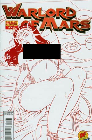 Warlord Of Mars #27 Cover D DF Exclusive Risque Martian Red Risque Cover