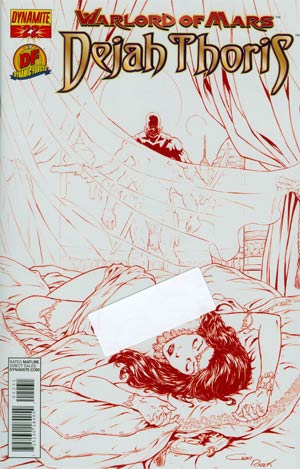 Warlord Of Mars Dejah Thoris #22 DF Exclusive Risque Martian Red Cover