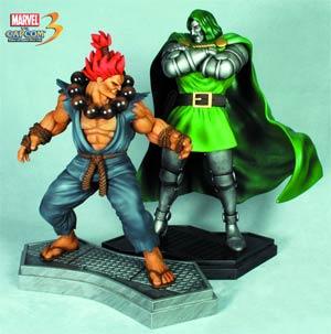 Dr Doom vs Akuma 1/4 Scale Statue Set