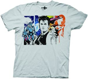 Doctor Who Tenth Doctor Previews Exclusive Grey T-Shirt Large