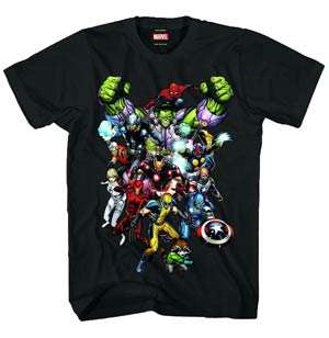Marvel Heroes Marvel Now Previews Exclusive Black T-Shirt Large