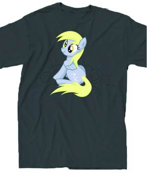 My Little Pony My Bad Button Grey T-Shirt Large