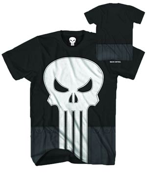 Punisher Sewn Punisher Black T-Shirt Large