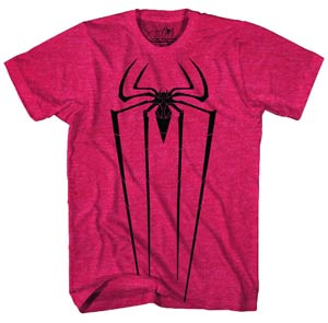 DO NOT USE (Duplicate Listing) Amazing Spider-Man Movie Black Icon Red Heather T-Shirt Large