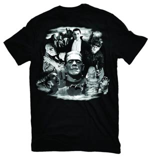 Universal Monsters Collage T-Shirt Large