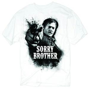 Walking Dead Sorry Brother Previews Exclusive White T-Shirt Large