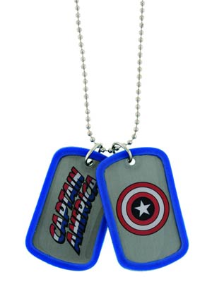 Marvel Heroes Double-Sided Dog Tag - Captain America
