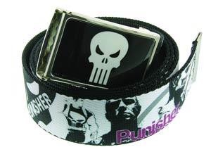 Punisher Mens Graphic Action Skull Belt