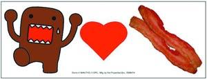 Domo Car Magnet - Domo Loves Bacon