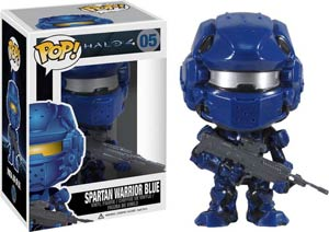 POP Halo 4 05 Spartan Warrior Blue Vinyl Figure