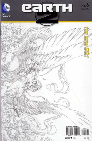 Earth 2 #6 Incentive Ivan Reis Sketch Cover