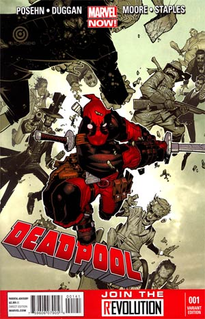 Deadpool Vol 4 #1 Incentive Chris Bachalo Variant Cover