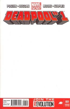 Deadpool Vol 4 #1 Variant Blank Cover