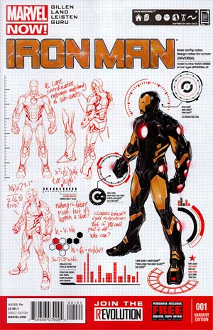 Iron Man Vol 5 #1 Incentive Carlo Pagulayan Design Variant Cover