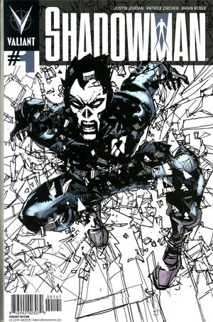 Shadowman Vol 4 #1 Incentive Bill Sienkiewicz Variant Cover
