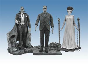 Universal Monsters Black & White Figure Set #2