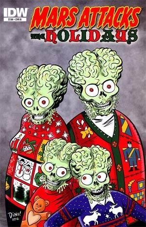 Mars Attacks Holidays One Shot Cover B Dean Haspiel