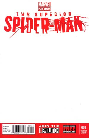 Superior Spider-Man #1 Cover D Variant Blank Cover