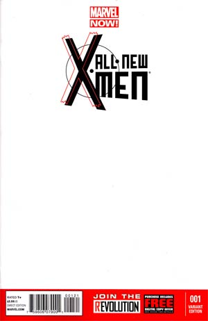 All-New X-Men #1 Cover C Variant Blank Cover