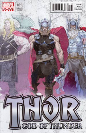 Thor God Of Thunder #1 Incentive Esad Ribic Design Variant Cover