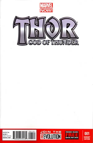Thor God Of Thunder #1 Variant Blank Cover
