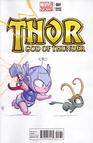 Thor God Of Thunder #1 Variant Skottie Young Baby Cover