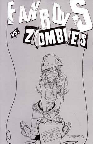 Fanboys vs Zombies #8 Incentive Khary Randolph Sketch Cover