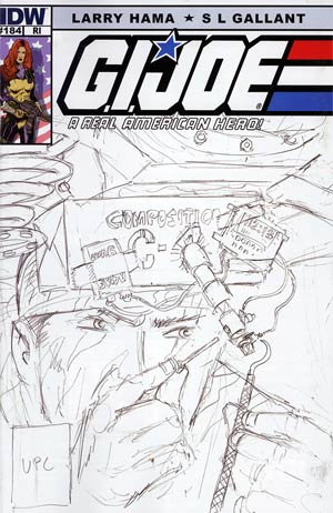 GI Joe A Real American Hero #184 Incentive Larry Hama Sketch Variant Cover