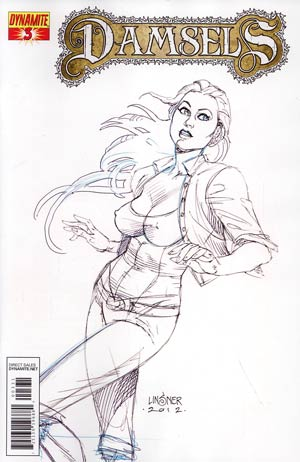Damsels #3 Incentive Joseph Michael Linsner Sketch Cover
