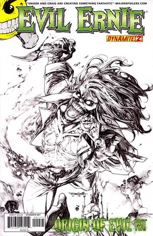 Evil Ernie Vol 3 #2 Incentive Stephen Segovia Black & White Cover