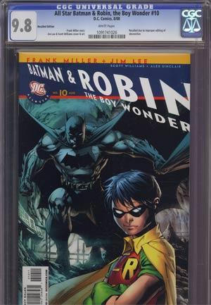 All Star Batman And Robin The Boy Wonder #10 Cover A Regular Jim Lee Cover Recall Version CGC 9.8