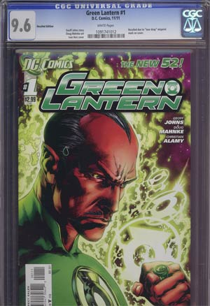 Green Lantern Vol 5 #1 1st Ptg Regular Ivan Reis Cover Recall Version CGC 9.6