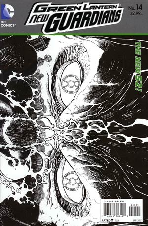 Green Lantern New Guardians #14 Incentive Aaron Kuder Sketch Cover (Rise Of The Third Army Tie-In)