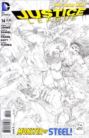 Justice League Vol 2 #14 Incentive Tony S Daniel Sketch Cover