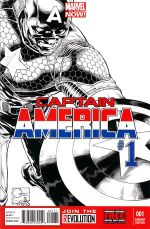 Captain America Vol 7 #1 Incentive Joe Quesada Sketch Cover