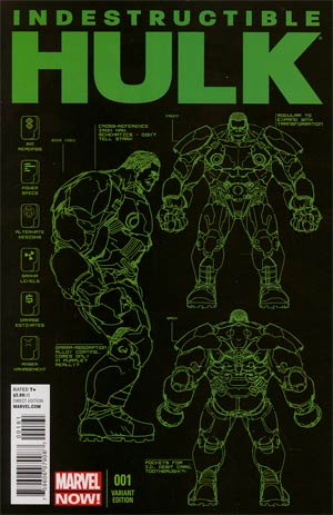 Indestructible Hulk #1 Incentive Leinil Francis Yu Design Variant Cover