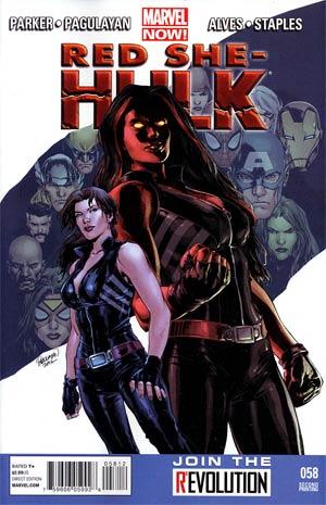 Red She-Hulk #58 Cover E 2nd Ptg Wellington Alves Variant Cover