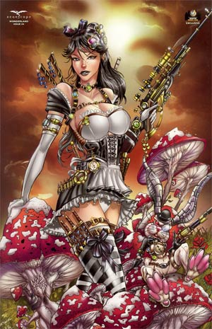Grimm Fairy Tales Presents Wonderland Vol 2 #4 Wizard World Austin Exclusive Jamie Tyndall Variant Cover