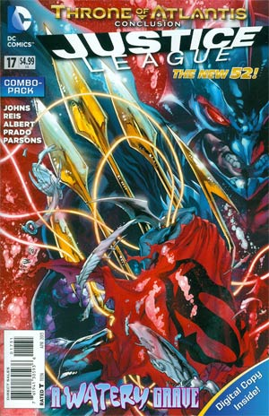 Justice League Vol 2 #17 Combo Pack With Polybag (Throne Of Atlantis Part 5)