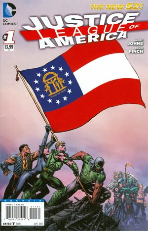 Justice League Of America Vol 3 #1 Variant Georgia Flag Cover