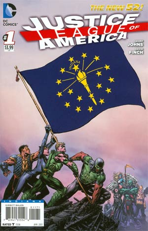 Justice League Of America Vol 3 #1 Variant Indiana Flag Cover