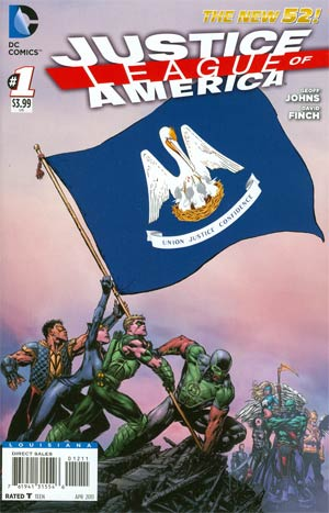 Justice League Of America Vol 3 #1 Variant Louisiana Flag Cover