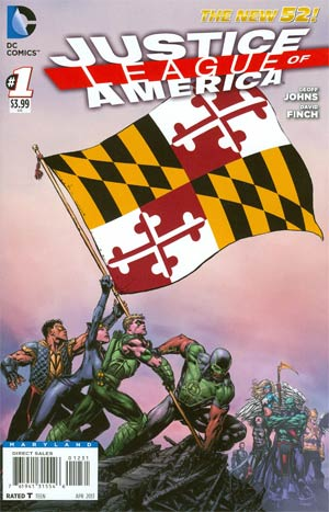 Justice League Of America Vol 3 #1 Variant Maryland Flag Cover