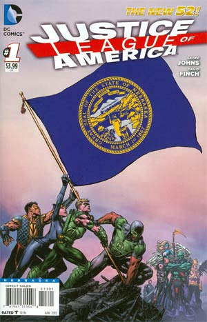 Justice League Of America Vol 3 #1 Variant Nebraska Flag Cover