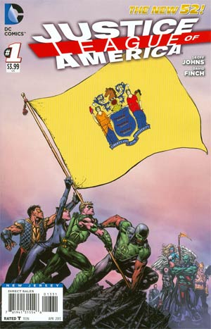 Justice League Of America Vol 3 #1 Variant New Jersey Flag Cover